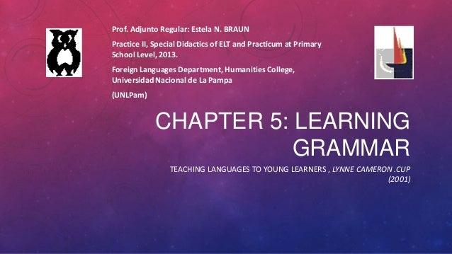 Teaching grammar to yle