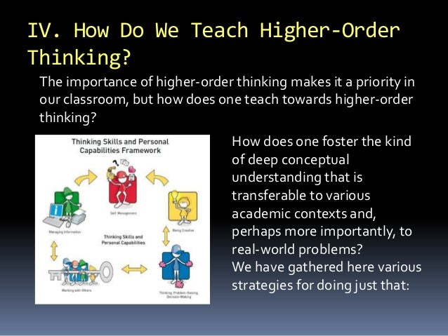 how to develop higher order thinking skills