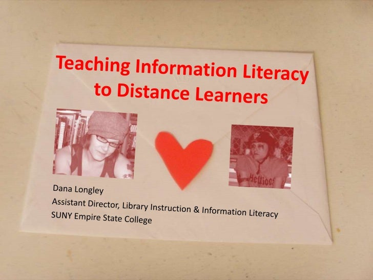 Teaching information literacy to distance learners