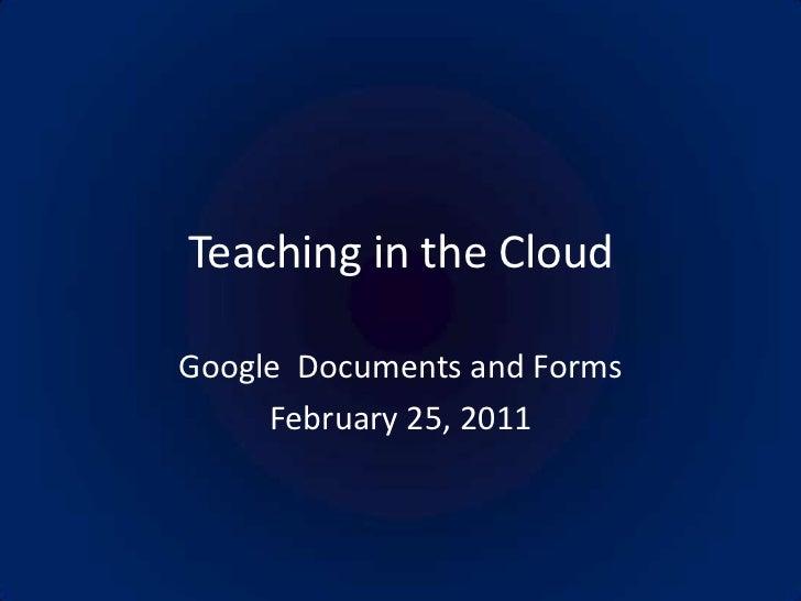 Teaching in the cloud