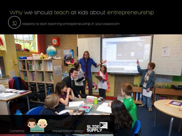 10 reasons to teach entrepreneurship to kids