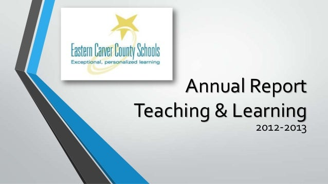 Eastern Carver County Schools - 2013 Annual Report for School Board