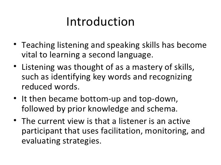 an introduction to teaching listening The call to teach: an introduction to teaching [matthew lynch] paused you're listening to a sample of the audible audio edition learn more see this image.