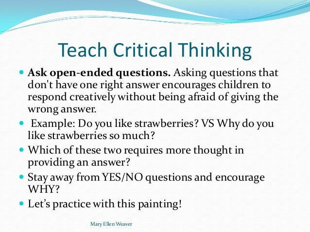 questions for critical thinking 1