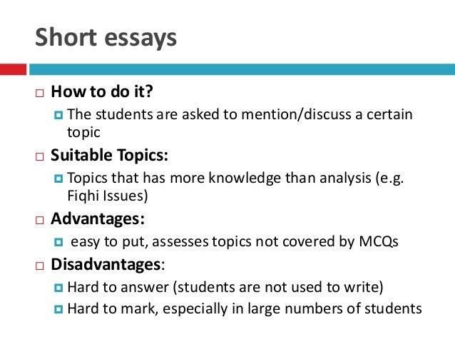 Problem Analysis Essay Topics