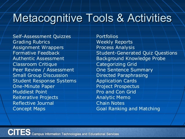 reaction paper on metacognition Correcting in response to the self-assessment, eva-luating progress toward the completion of a task metacognition is one's ability to use prior knowledge metacognitive processes 2010 page 3.