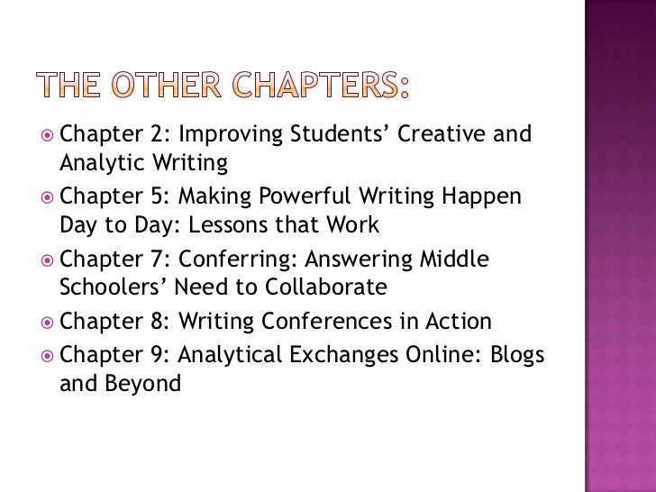creative writing middle school lesson plans Complete lesson plans for a creative writing course.