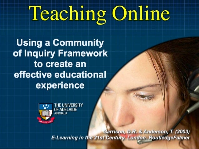 Teaching Online: An Introduction to COI Framework