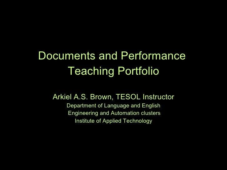 Teaching Portfolio P P Tb[2]