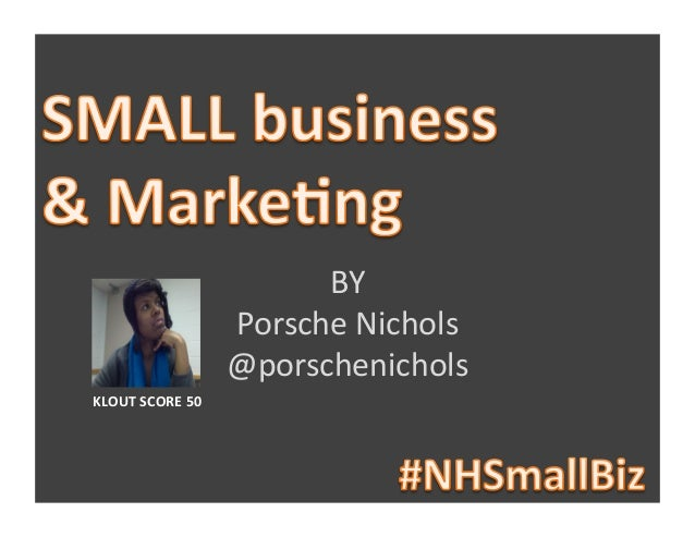 Small Business and Social Media Marketing!