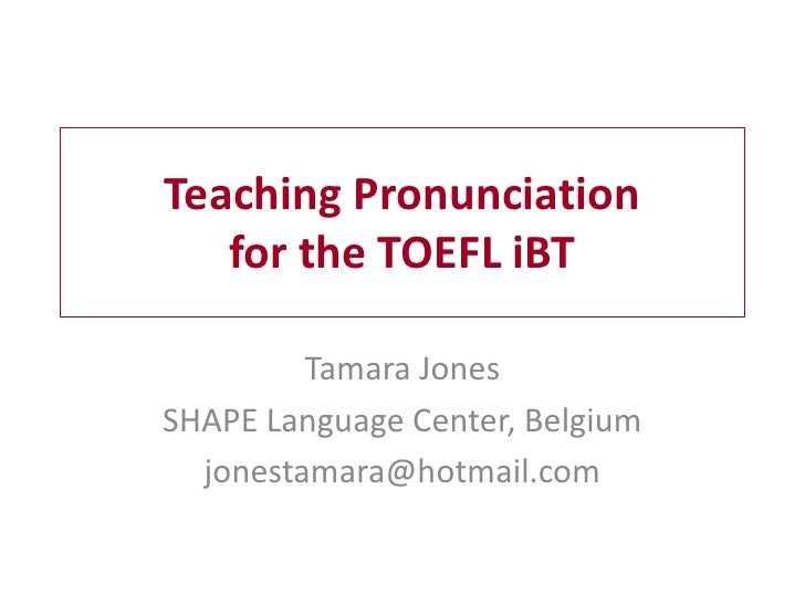 teaching pronunciation essay Teaching english pronunciation is a challenging task with different objectives at each level this guide on how to teach pronunciation provides a short overview of.