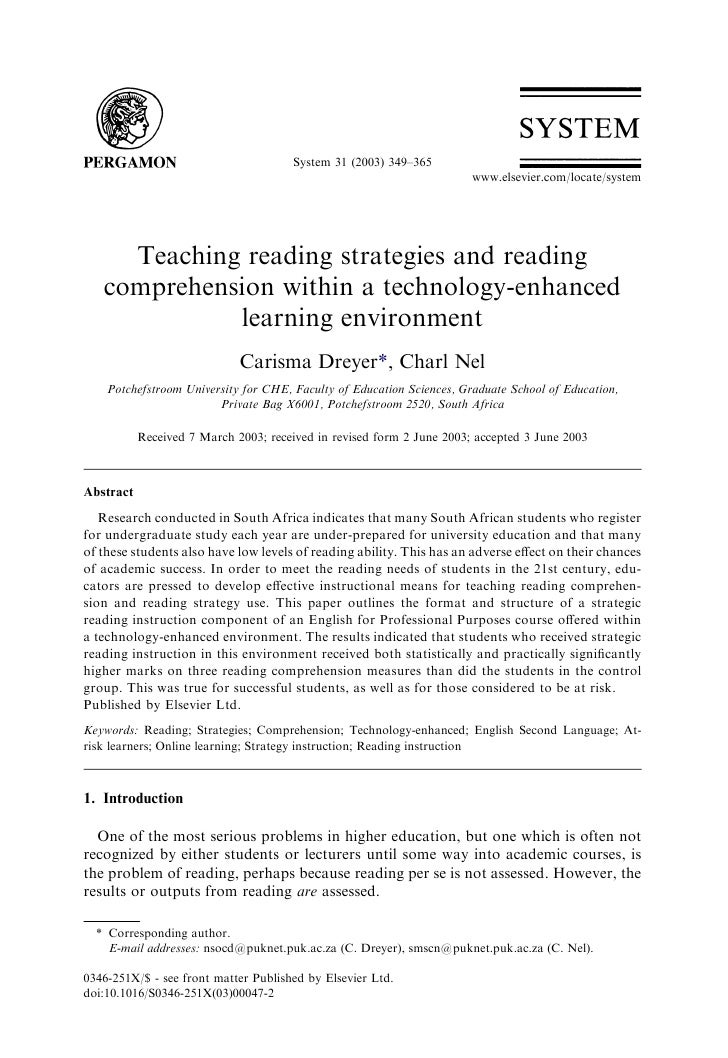 Teaching reading strategies and reading comprehension