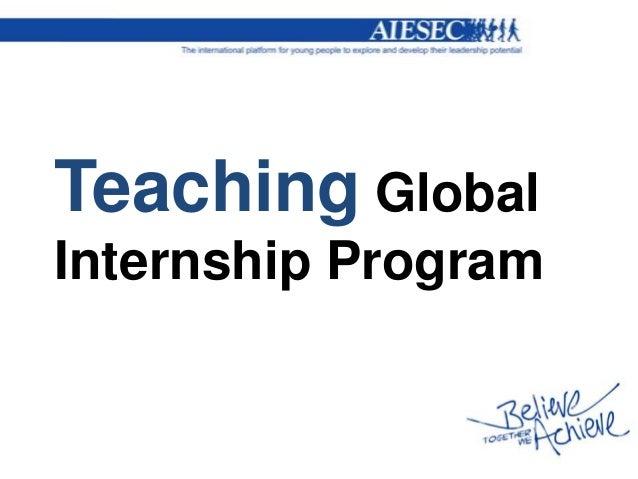 Teaching GlobalInternship Program