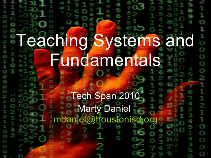 Teaching systems and fundamentals