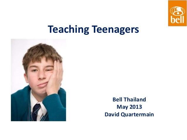Teaching teenagers dq may 2013