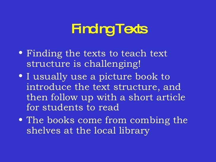 how to teach text structure