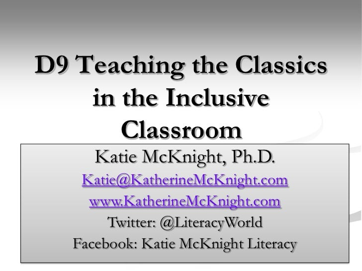 Teaching the Classics in the Inclusive Classroom.mcknight