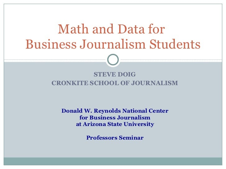 Teaching the Effective Use of Data in Business Coverage - Reynolds Week 2011