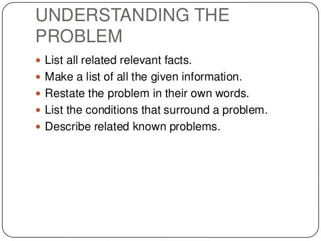 Problem solving skills list