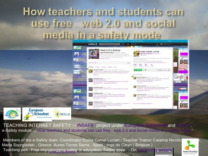 Teaching unit free microblogging safety in education : Twitter apps .