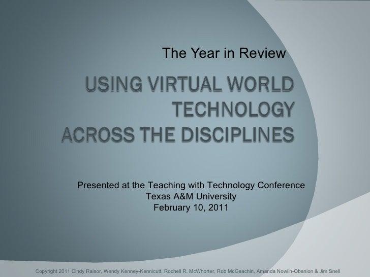 Using Virtual World Technologies Across the Disciplines