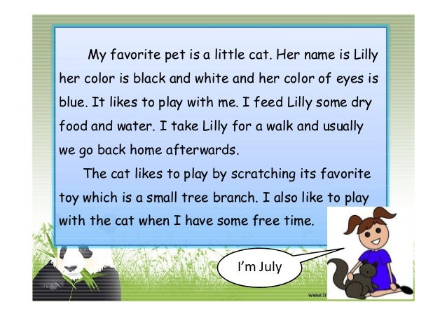 My Pet Animal Cat Paragraph
