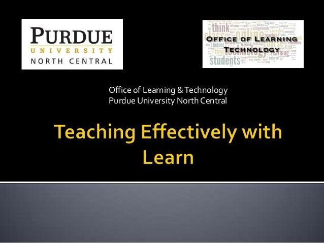 Teaching Effectively with BlackBoard Learn