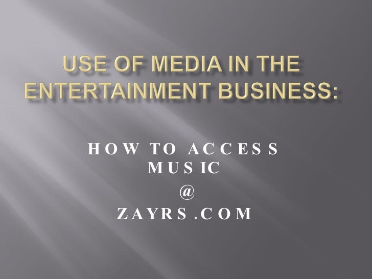 HOW TO ACCESS MUSIC @  ZAYRS.COM