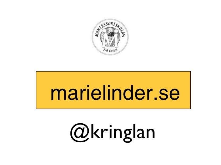 marielinder.se  @kringlan