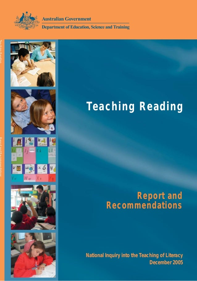 Teach Reading Australia - Inquiry Report Recommendation