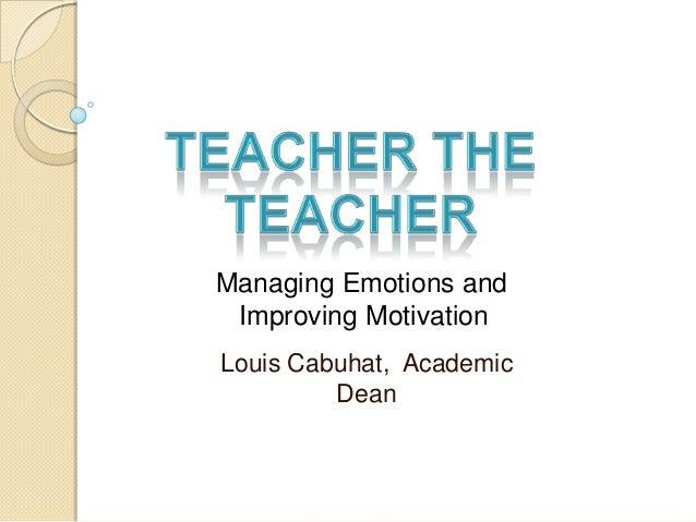 Teach the teacher motivation (unit one)