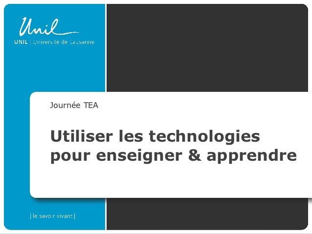 Intégration des technologies dans l'enseignement et l'apprentissage: Intro 2012