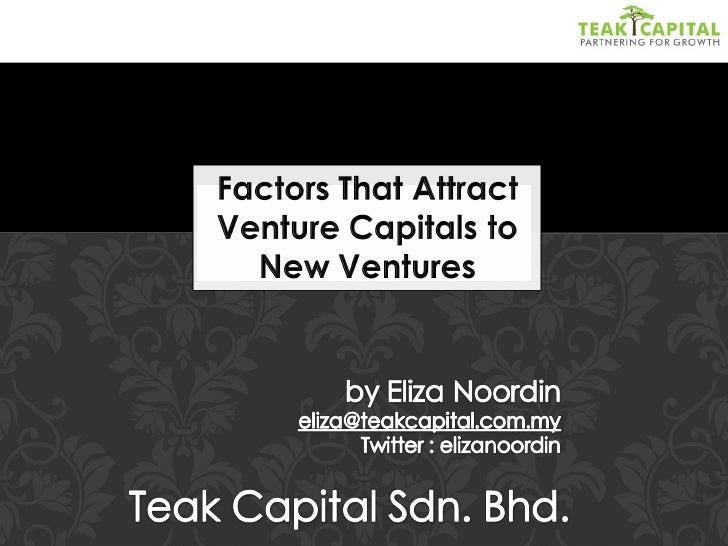 Factors That Attract Venture Capitals to New Ventures