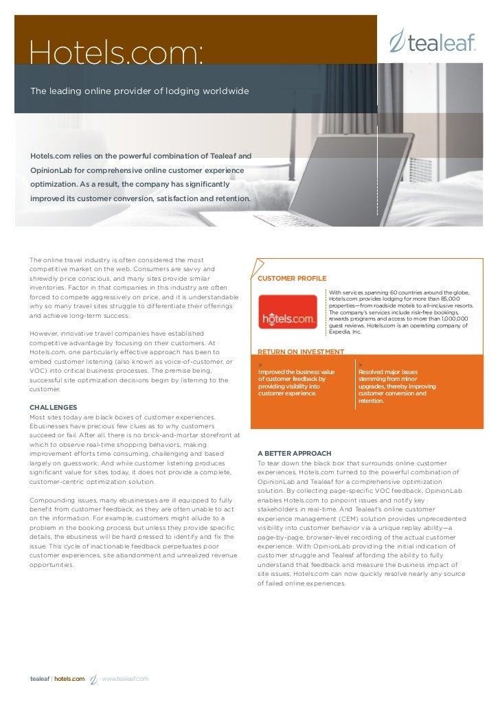 Hotels.com Case Study