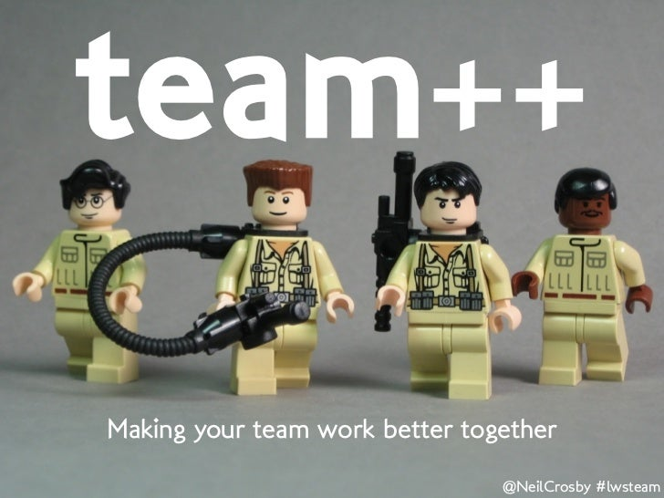 team++Making your team work better together                                @NeilCrosby #lwsteam