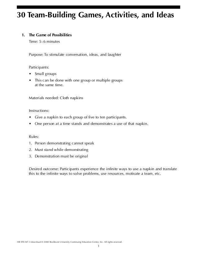1 HR ETS M7-3 download © 2008 Rockhurst University Continuing Education Center, Inc. All rights reserved. 30 Team-Building...