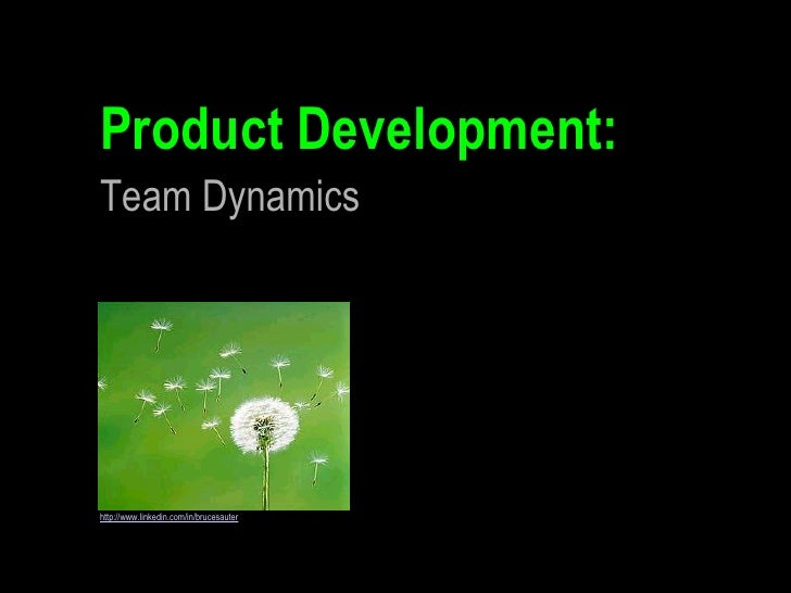 Product Development: http://www.linkedin.com/in/brucesauter Team Dynamics