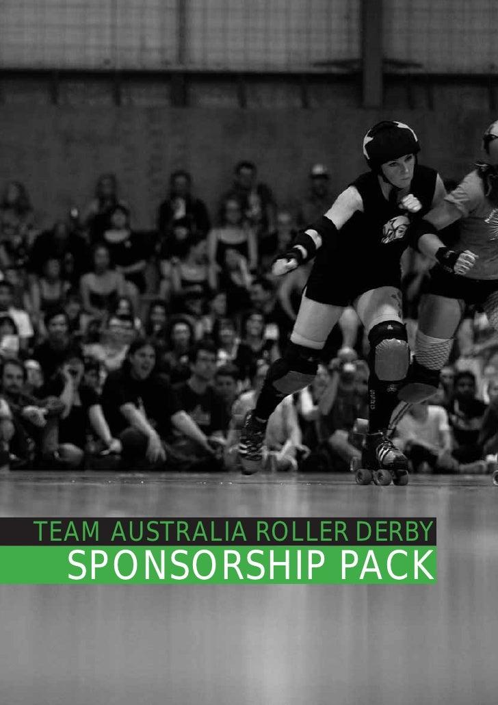 TEAM AUSTRALIA ROLLER DERBY  SPONSORSHIP PACK