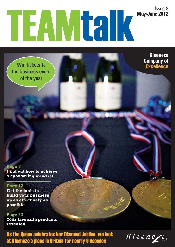 Team talk-issue-8 2012 05 kleeneze