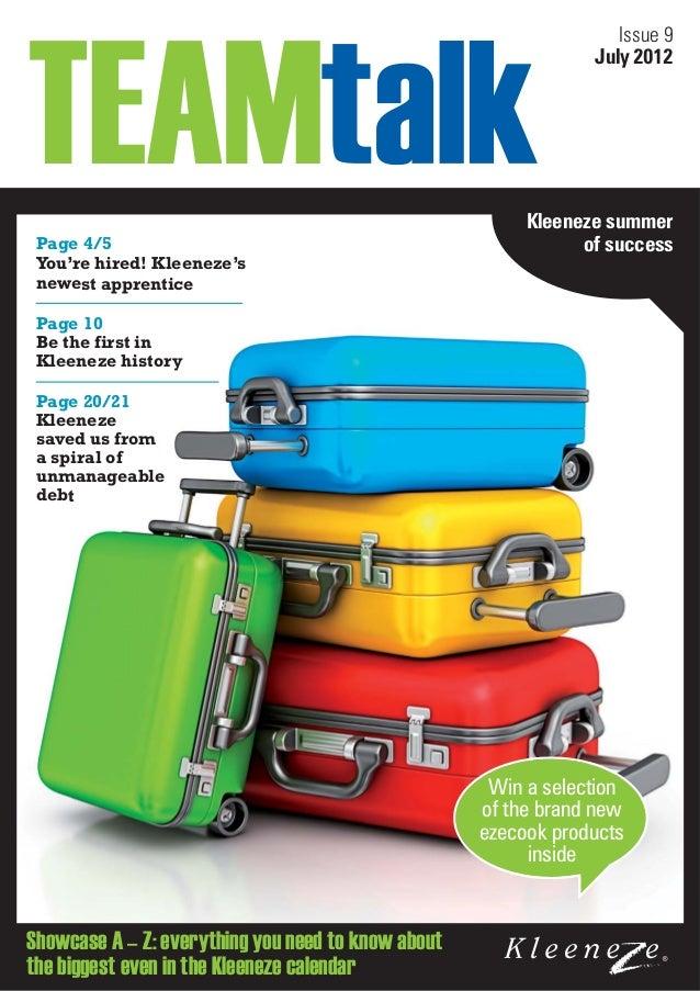 Team talk-issue-9 2012 07 kleeneze