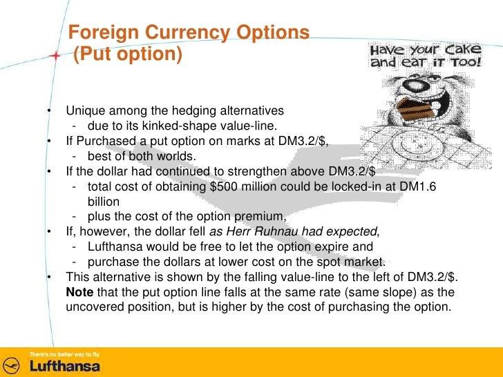 Lufthansa - Hedging Alternatives