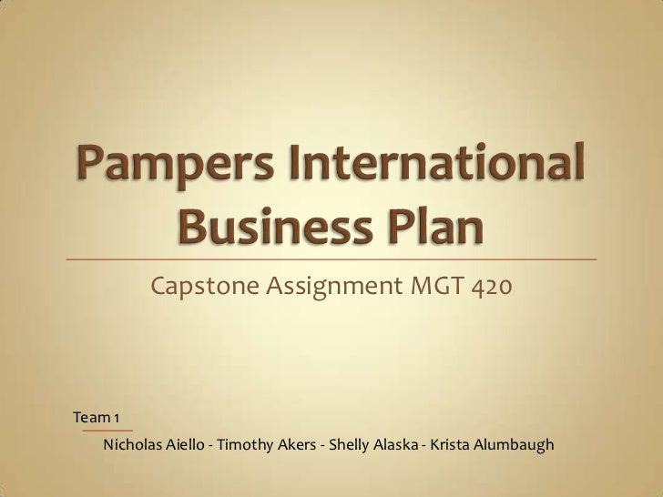 Capstone Assignment MGT 420Team 1   Nicholas Aiello - Timothy Akers - Shelly Alaska - Krista Alumbaugh