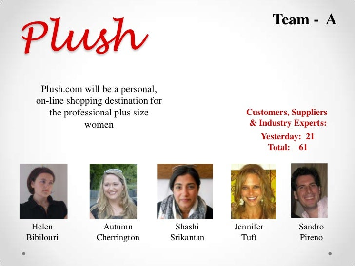 Plush                                                            Team - A   Plush.com will be a personal,  on-line shoppin...