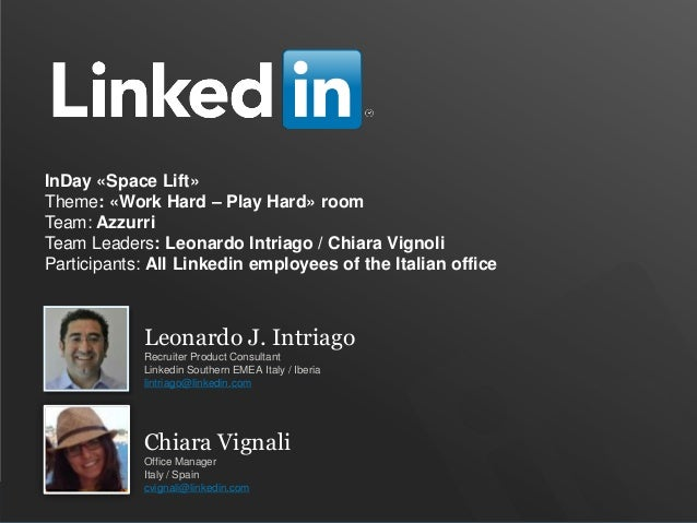 Space Lift in Milan - LinkedIn Italy transforming an empty space