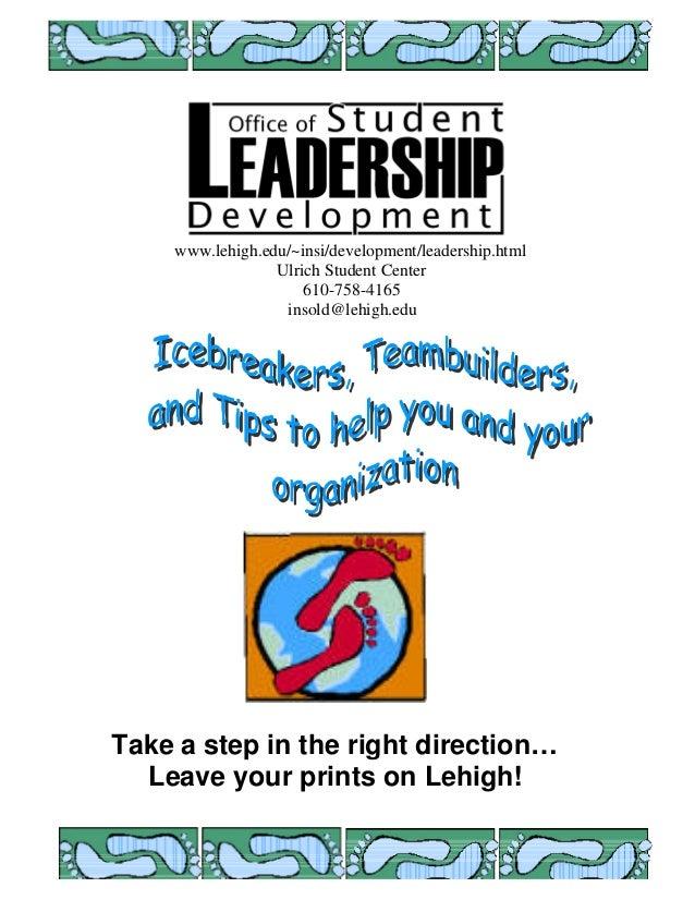 Teambuilders and activities