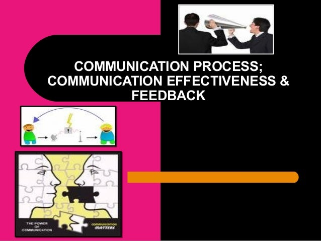 COMMUNICATION PROCESS; COMMUNICATION EFFECTIVENESS & FEEDBACK
