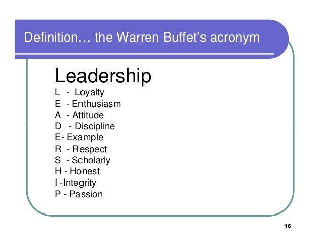 leadership acronym Gallery