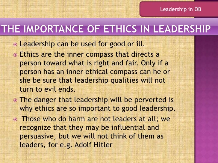Is leadership a quality of character?