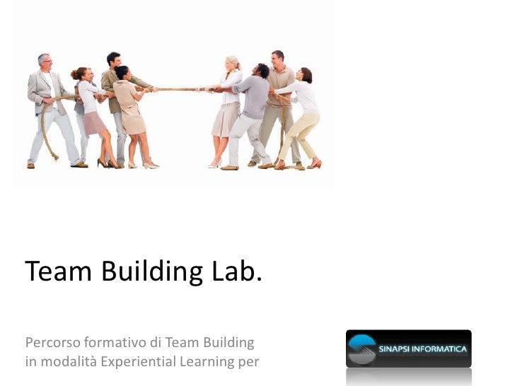 Team Building Lab Sinapsi