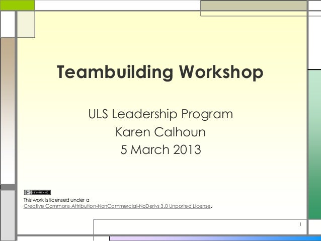 Teambuilding Workshop - ULS Leadership Program
